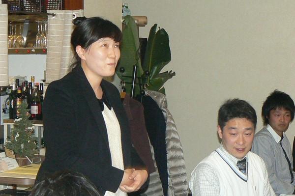 齋藤智一先生、Lee先生、Kim先生の歓迎会