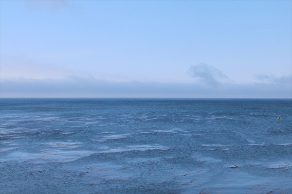 カリフォルニアから見た太平洋