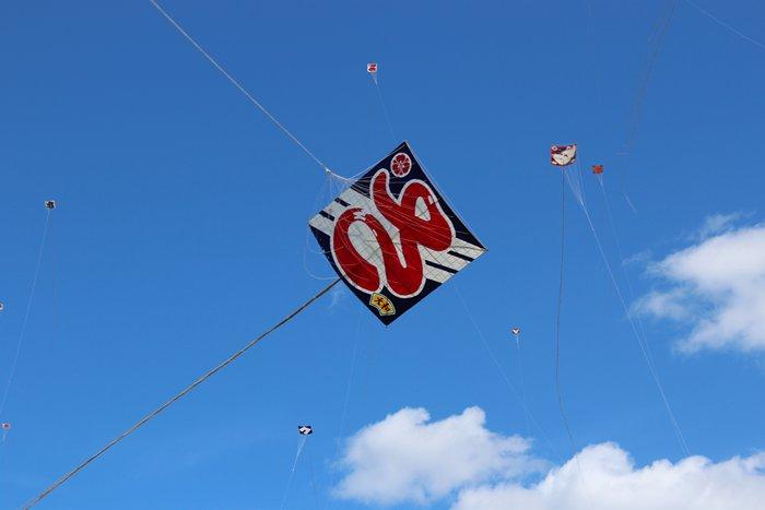 浜松祭りの凧揚げ